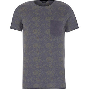 Blue print Jack & Jones Vintage t-shirt