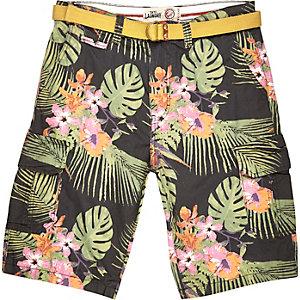 Green Tokyo Laundry tropical print shorts