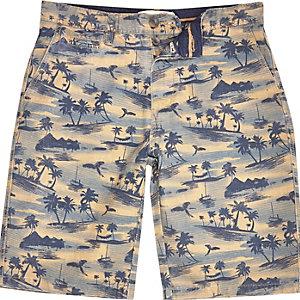 Brown Tokyo Laundry tropical print shorts