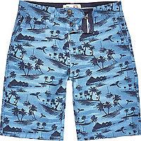 Blue Tokyo Laundry tropical print shorts