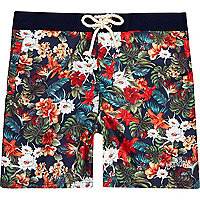 Orange floral print Tokyo Laundry swim shorts