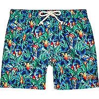 Green tropical Tokyo Laundry swim shorts