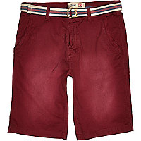 Red Tokyo Laundry belted shorts