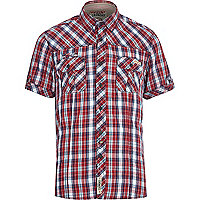 Red Tokyo Laundry check short sleeve shirt