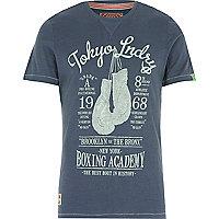Blue Tokyo Laundry boxing print tshirt