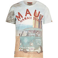 Ecru Tokyo Laundry surf print t-shirt