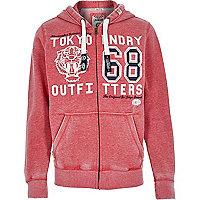 Red Tokyo Laundry zip up hoodie