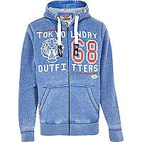 Blue Tokyo laundry zip up hoodie