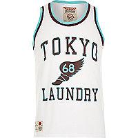 White Tokyo Laundry print mesh vest