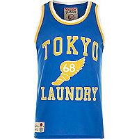 Blue Tokyo Laundry print mesh vest