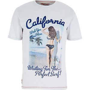 Light blue Tokyo Laundry USA print t-shirt