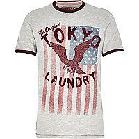 Stone Tokyo Laundry eagle print t-shirt
