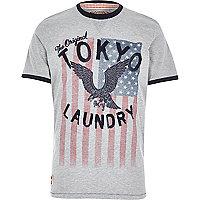 Grey Tokyo Laundry eagle print t-shirt
