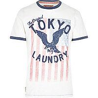 Ecru Tokyo Laundry eagle print t-shirt