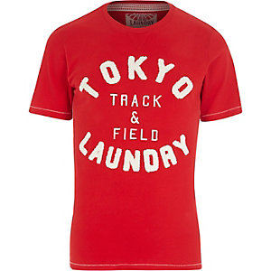 Red Tokyo Laundry track and field t-shirt