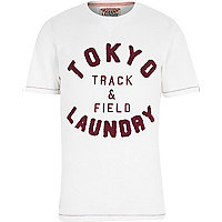 Ecru Tokyo Laundry track and field t-shirt
