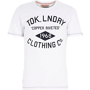 White Tokyo Laundry logo print t-shirt