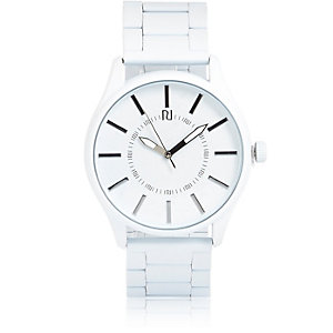 White simple face watch