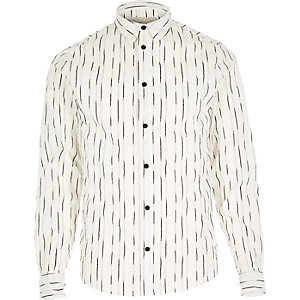 White RVLT stripe line shirt