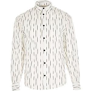 White RVLT stripe line shirt