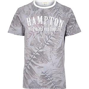 Ecru floral Hampton print t-shirt