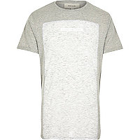 Grey marl no day like today print t-shirt