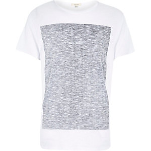 White all night contrast print t-shirt