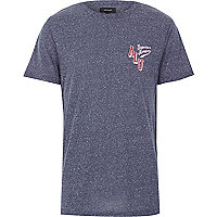 Navy superior league short sleeve t-shirt