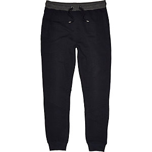 Navy panelled joggers