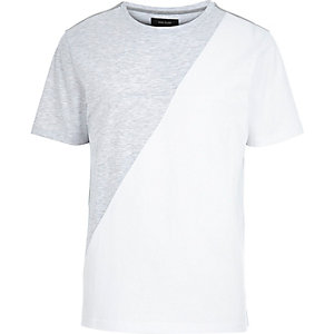 Grey diagonal print t-shirt