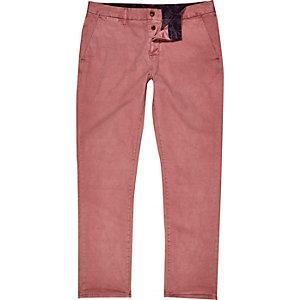 Pink slim chino pants