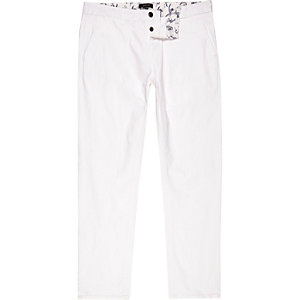 White slim chinos