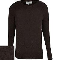 Brown woven jumper
