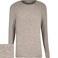 Mink brown woven jumper
