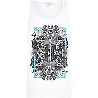 White City of Angels print vest