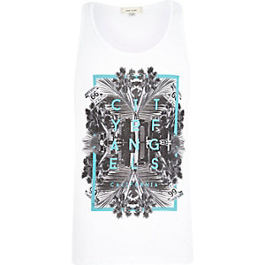 White City of Angels print vest