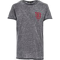 Grey washed Tokyo Speed print t-shirt