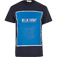 Navy hello Friday crew neck t-shirt