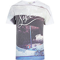 White superior print t-shirt