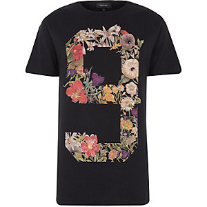 Black No.9 floral print t-shirt
