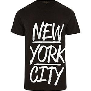 Black New York City print t-shirt