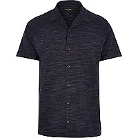 Blue marl short sleeve shirt