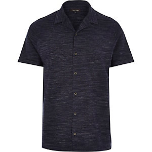 Blue marl short sleeve shirt