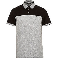 Black contrast yoke polo shirt