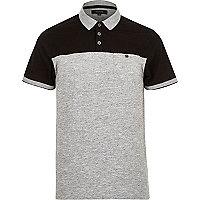 Black contrast yoke polo shirt