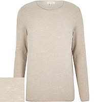 Brown marl long sleeve jumper