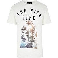 Ecru the high life printed t-shirt