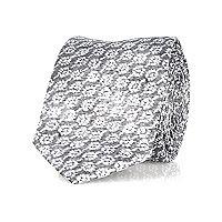 Grey repeat print tie