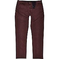 Dark red slim chino trousers