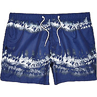 Navy tie dye swim shorts
